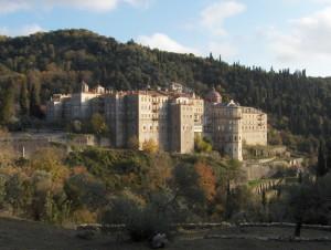Вид на монастырь Зограф